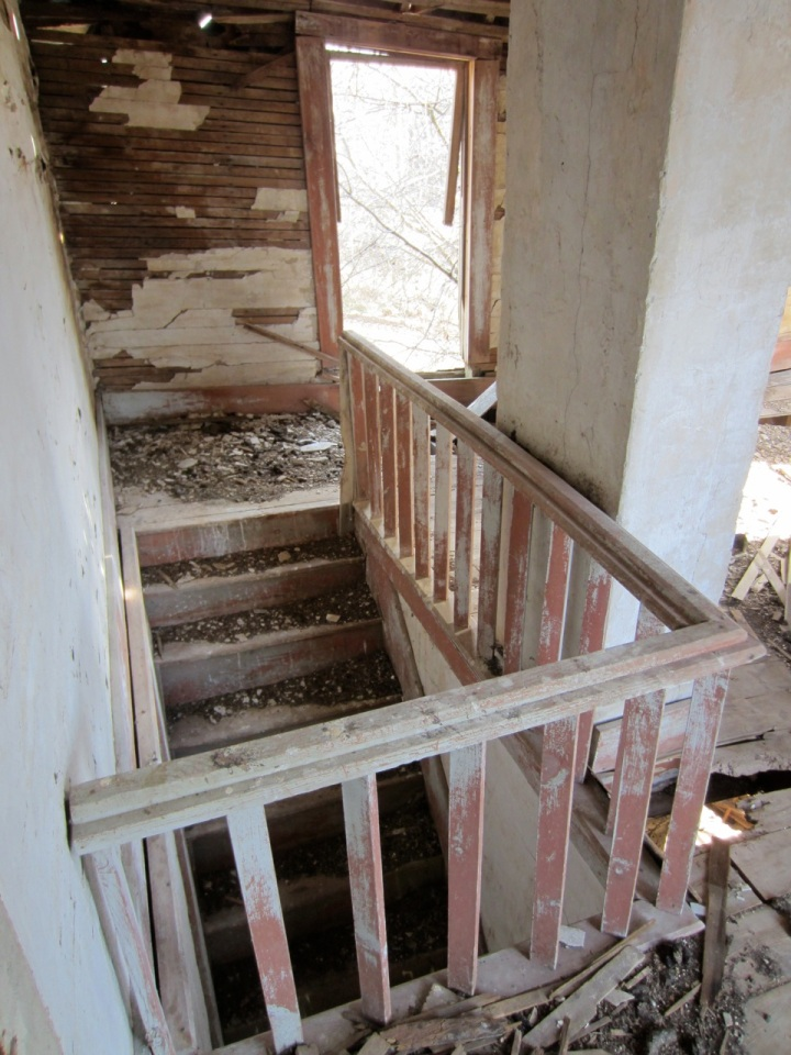 Banister, inside addition