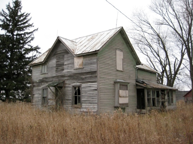 House as it appeared 2008.  It was abandoned sometime during the 1960s.