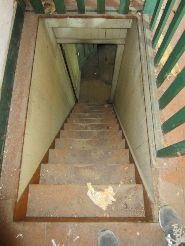 Top of staircase looking down