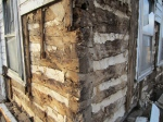 Oak spot-rots.  The outsides of these timbers look like hell, but the inside appears totally fine.